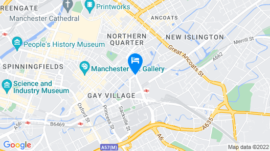 DoubleTree by Hilton Hotel Manchester - Piccadilly Map