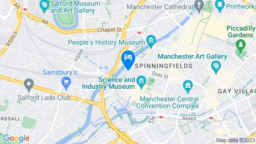 Manchester Marriott Victoria & Albert Hotel Map