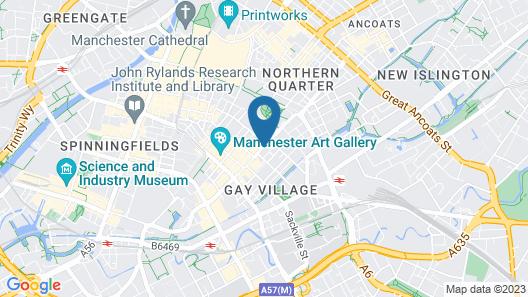 Britannia Hotel - Manchester City Centre Map