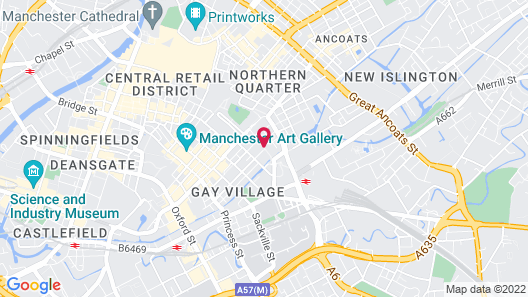Holiday Inn Manchester - City Centre Map