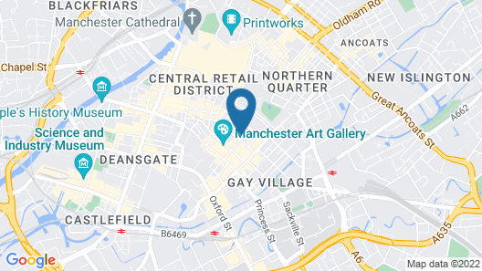 Hilltop Serviced Apartments - Piccadilly Map