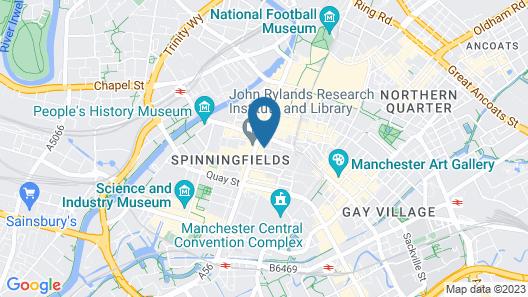 Qbic Hotel Manchester Map