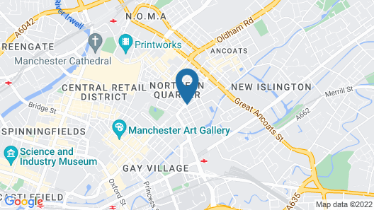 easyHotel Manchester Map