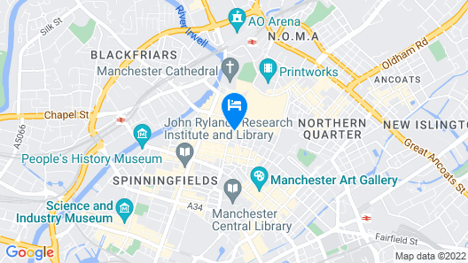 Motel One Manchester-Royal Exchange Map