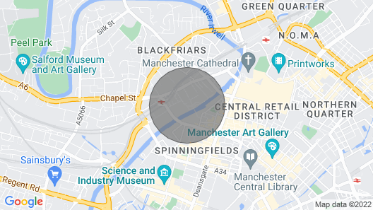 Luxury, Central Apartment for 6 in Manchester Map