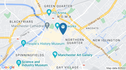 Blue Rainbow Aparthotel Manchester High Street Map