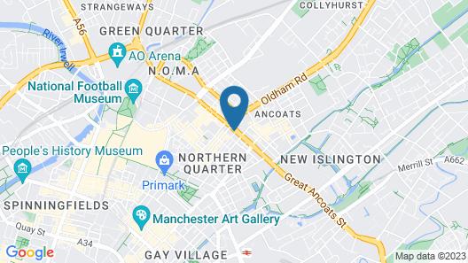 City Warehouse Aparthotel Manchester Map