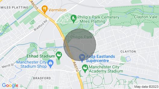 Superb Apt. Sleeps 4 Close to Ethiad Stadium Map