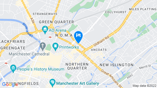 AC Hotel by Marriott Manchester City Centre Map