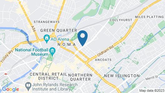 Hampton by Hilton Manchester Northern Quarter Map