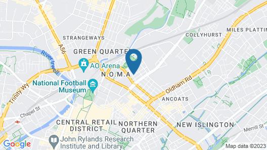 Hilltop Serviced Apartments - Northern Quarter Map