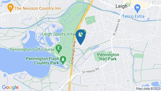 Holiday Inn Express Leigh - Sports Village Map