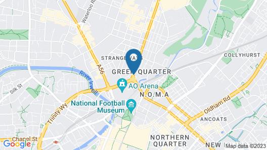 Park Inn by Radisson Manchester City Centre Map