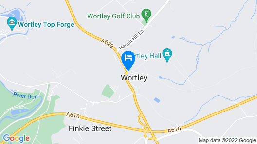Wortley Cottage Guest House Map