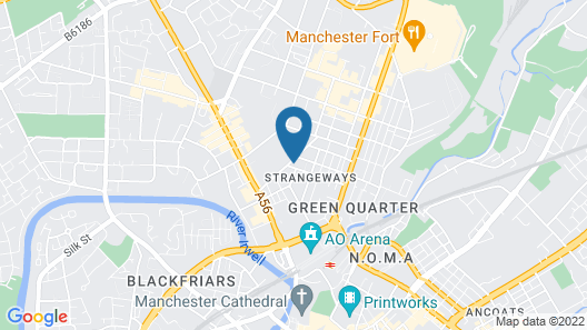 Manchester Party Pad Map