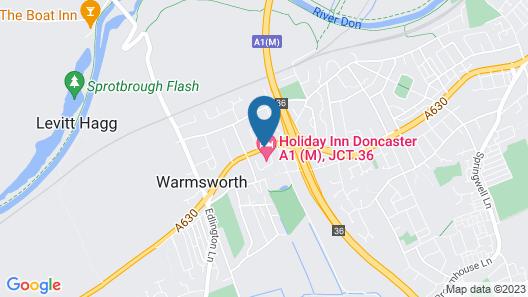 Holiday Inn Doncaster A1 M Jct 36 Map