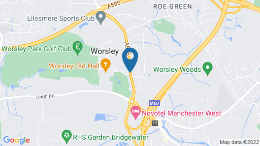 Worsley Park Marriott Hotel & Country Club Map