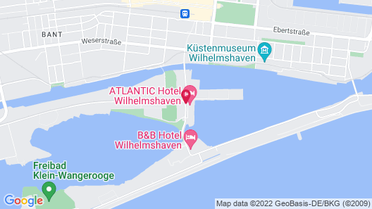 ATLANTIC Hotel Wilhelmshaven Map