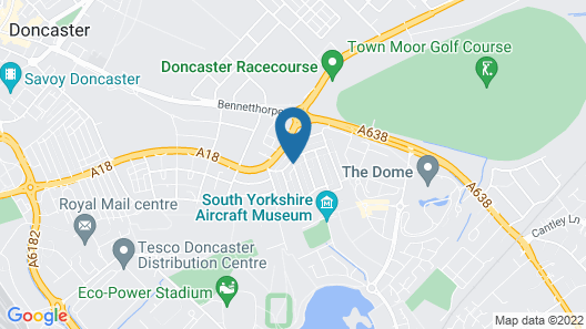 Rustic Apartment in Doncaster Near Doncaster Racecourse Map