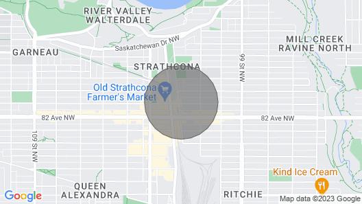 Entire Condominium 1 block off Whyte Ave, Sleeps 4 Map