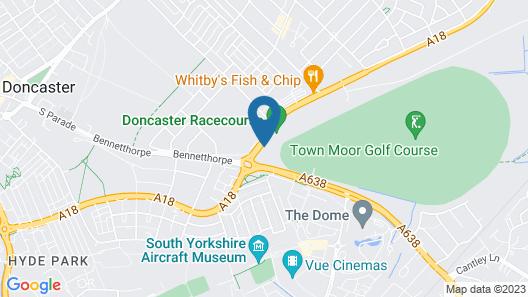 Hilton Garden Inn Doncaster Racecourse Map