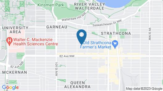 1 bed room basement suite Map