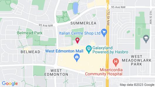 West Edmonton Mall Inn Map