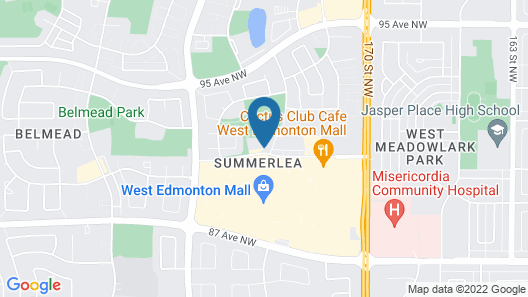 West Edmonton Mall Inn Map
