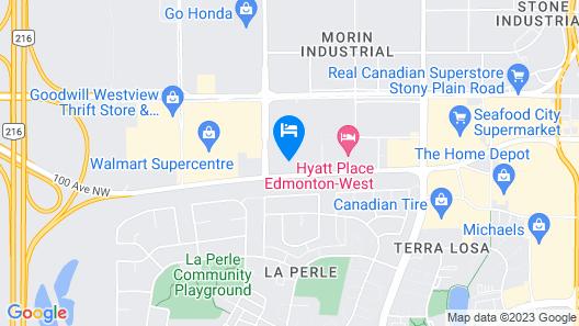 Hampton Inn & Suites by Hilton Edmonton/West Map