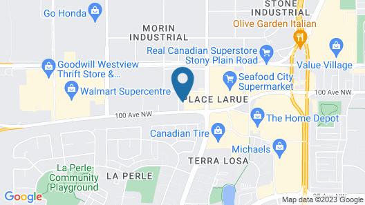 Best Western Plus West Edmonton Map