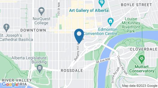 Coast Edmonton House Hotel Map