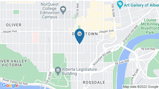 Comfort Inn & Suites Downtown Edmonton Map
