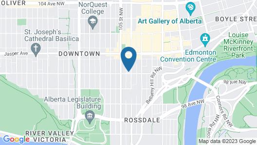 Holiday Inn Express Edmonton Downtown, an IHG Hotel Map