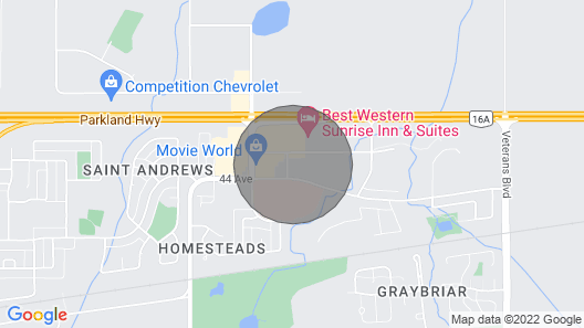 Bright Stony Plain 2bed 2bath by Westview Map