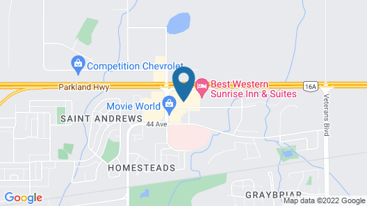 Stony Plain Inn and Suites Map