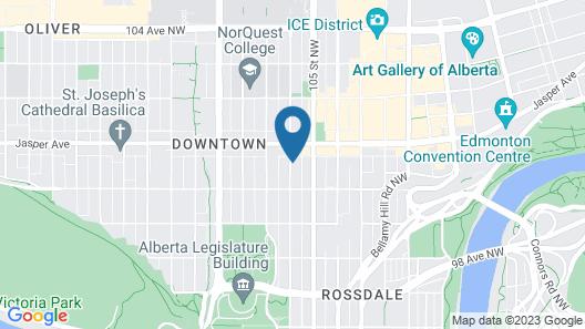 Days Inn by Wyndham Edmonton Downtown Map