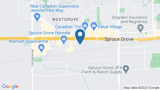 Super 8 by Wyndham Spruce Grove Map