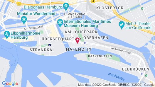 Holiday Inn Hamburg - Hafencity Map