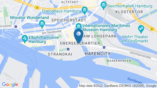 25hours Hotel HafenCity Map