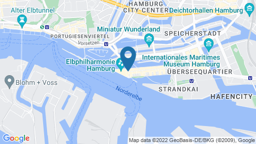 The Westin Hamburg Map