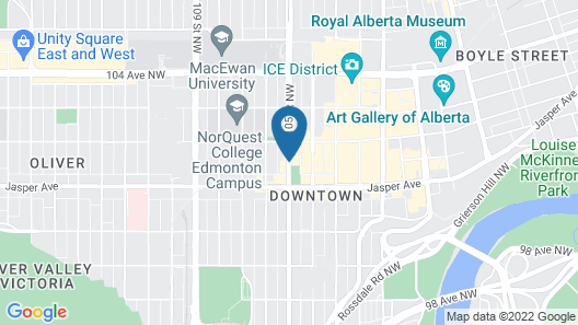 Coast Edmonton Plaza Hotel by APA Map