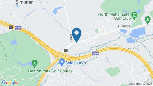 Comfort Inn Manchester North Map