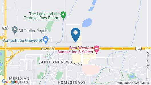 Motel 6 Stony Plain, AB Map