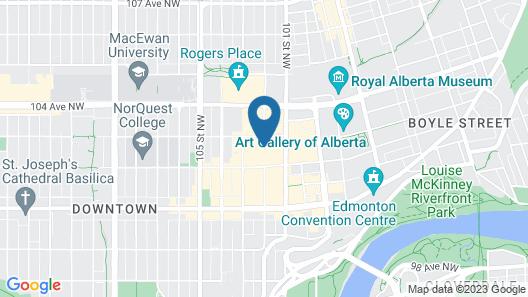Delta Hotels by Marriott Edmonton Centre Suites Map