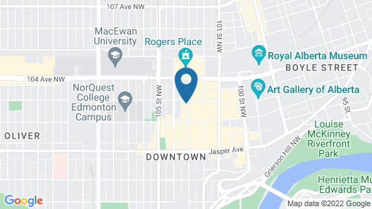 Crash Hotel Downtown Edmonton Map