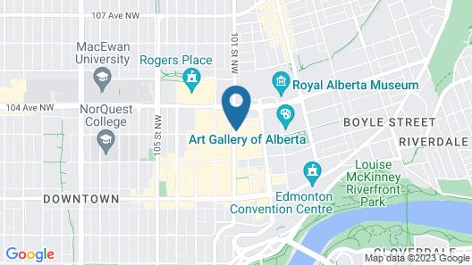 The Sutton Place Hotel - Edmonton Map