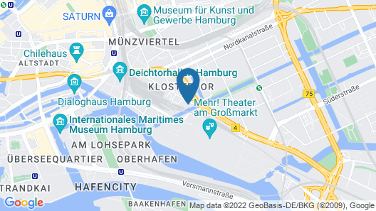 INNSiDE by Melia Hamburg Hafen Map