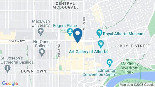 JW Marriott Edmonton ICE District Map