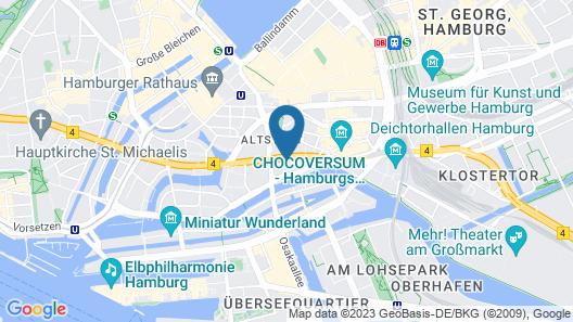 Adina Apartment Hotel Hamburg Speicherstadt Map