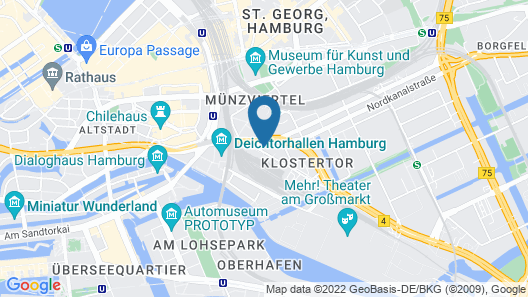 a&o Hamburg Hauptbahnhof Map